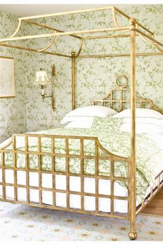 Chinoiserie gone wild, but in such a beautiful way.  Love the sconces instead of bedside table lamps.