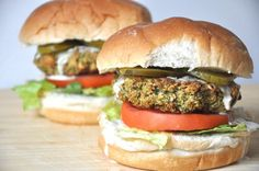 Broccoli Burgers with Tahini Dressing-  Trick my daughter into eating Broccoli!!!