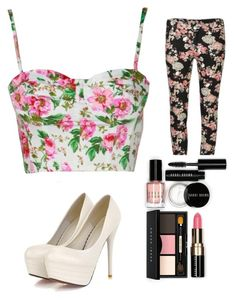 """Flowered"" by stephaniemarrufo ❤ liked on Polyvore"
