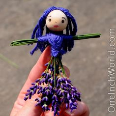 One Inch World Lavender dolls These are amazing! Lavender Crafts, Lavender Bags, Lavender Sachets, Lavender Flowers, Diy And Crafts, Crafts For Kids, Arts And Crafts, Doll Crafts, Diy Doll