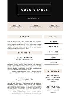 Lebenslauf Vorlage 4 Seite Pack von TheResumeBoutique auf Etsy