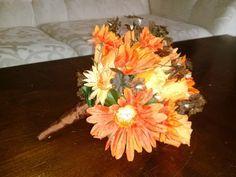 Wedding Bouquets Camo Style Wedding Orange and Chocolate | eBay