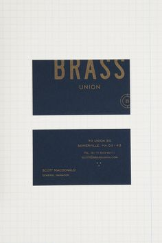 Oat – Brand identity for Brass Union, Somerville pub and cocktail bar