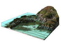 Paysages Crozon bloc diagramme paysages ss marins men coz M.Aubinet