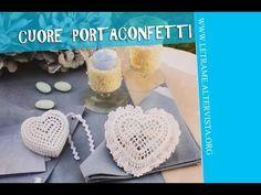 Tutorial Bomboniera all' uncinetto - Scrigno a cuore (crochet) 1/3 - YouTube