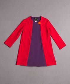 Love this Red & Purple Miro Swing Jacket - Toddler & Girls on #zulily! #zulilyfinds