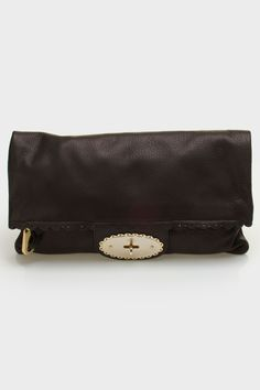 Mulberry Oversized Postman's Cookie Cutter Clutch In Black