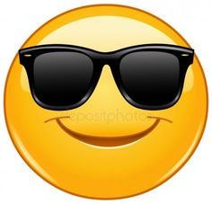 Smiling emoticon with sunglasses. Vector smiling emoticon with sunglasses ,