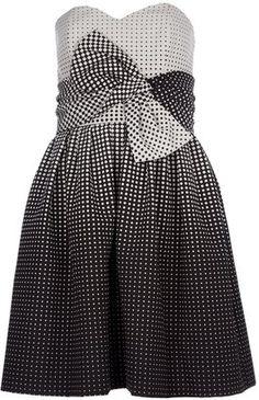 Paule Ka strapless dress