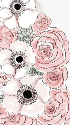 Fondos iPhone X Wallpaper 297096906666599901 L Wallpaper, Wallpaper Fofos, Flower Wallpaper, Pattern Wallpaper, Wallpaper Backgrounds, Pattern Art, Print Patterns, Watercolor Flowers, Watercolor Art