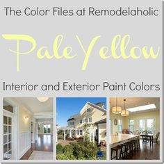 Pale yellow color inspiration | Remodelaholic