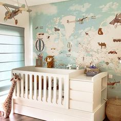 Little Hands Wallpaper, Modern Minimalist, Home Decor Accessories, Nursery Ideas, Modern Farmhouse, Cribs, Boy Or Girl, Toddler Bed, House Design