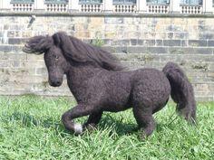 Needle felted Shetland pony, via Flickr.