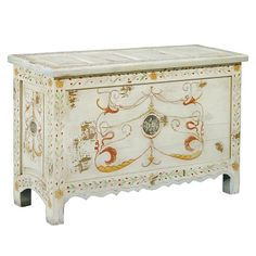 Painted Blanket Chest.