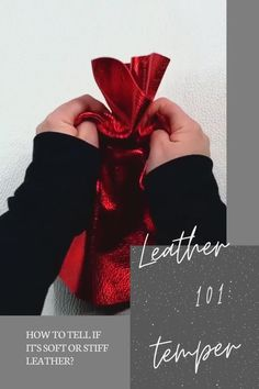 How to shop for leather softness and stiffness. Leather Gifts, Leather Jewelry, Stitching Leather, Hand Stitching, Diy Leather Projects, What Is It Called, Sewing Leather, Thick Leather, Leather Pieces