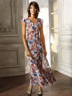 Druckkleid Short Sleeve Dresses, Dresses With Sleeves, Heine, Evening Dresses, Tops, Fashion, Long Sleeve Gown, Long Dress Formal, Summer Recipes
