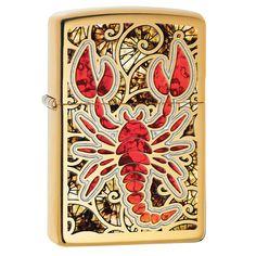 Zippo Scorpion Shell color Pocket Lighter