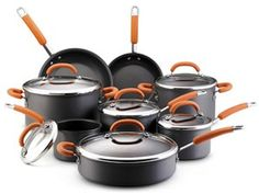 Hard Anodized Nonstick Cookware Set (14-pc.): Orange by Rachael Ray at Food Network Store