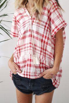 Zuma check blouse