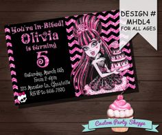 Items similar to Honey Bee Baby Shower Invitation // Summer Baby Shower // Gender Reveal // Pink Frosting Paperie on Etsy Monster High Party Supplies, Monster High Invitations, 7th Birthday, Birthday Parties, Monster High Birthday, Kids Corner, Holidays And Events, Birthday Invitations, Party Planning
