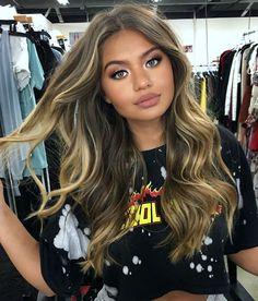 ♥️ Pinterest: DEBORAHPRAHA ♥️ Sofia Jamora hair balayage blonde