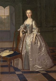 Arthur Devis - A Lady in a Drawing Room, by Arthur Devis, painted between 1740 and 1741