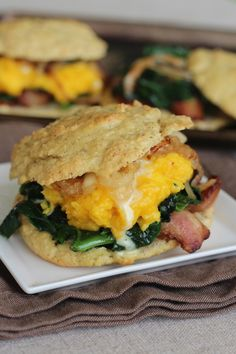 PaleOMG – Breakfast Biscuit Sandwiches - uses small amount of maple syrup in homemade mayo - LOTS of other breakfast sandwich ideas listed