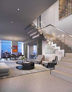 Priciest Penthouses to List at Upper West Side's New Tallest Tower Dream House Interior, Luxury Homes Dream Houses, Dream Home Design, Luxury Homes Interior, Luxury Home Designs, Luxury Modern House, Modern House Interior Design, Best Modern House Design, Mansion Interior