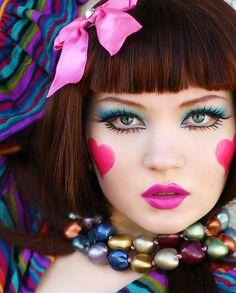 Circus | Carnival | Masquerade | Cabaret Photography at: http://www.pinterest.com/oddsouldesigns/the-secret-circus/ #clown #makeup