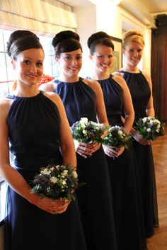 Flower Design Events: A Sneaky Peek at Amy & Lee Smalley's Midnight Blue Wedding Day at Samlesbury Hall
