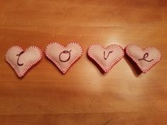 Heart Garland Love by SimplySewedBoutique on Etsy