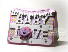 Baby Love Card by Sankari Wegman #Cardmaking, #TEMatched, #Baby, #EmbossingFolders, #LittleBitsDies, #TE, #ShareJoy