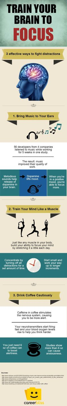 3 Ways to Train Your Brain to Focus. #infographic
