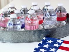 DIY patriotic party decor with washi tape