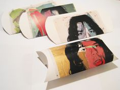 pillow boxes made from posters