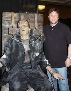 Frankenstein - Sculpted By Mike Hill (pictured) - Photo was taken at MONSTERPALOOZA in Burbank. I can't remember which year.  (I've been to all of them so far)