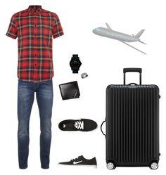 """Dad's outfit #1"" by yawnca on Polyvore featuring Scotch & Soda, Topman, NIKE, Nixon, Blue Nile, Rimowa, men's fashion and menswear"