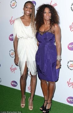 Venus Williams wearing Amanda Wakeley & Serena Williams in Burberry at the WTA Pre-Wimbledon party