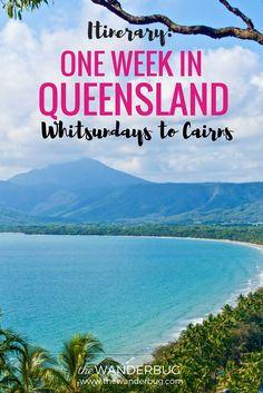 Itinerary for one week trip from the Whitsundays to Cairns in Queensland, Australia. Includes Whitehaven Beach, Great Barrier Reef, the Daintree Rainforest Australia Travel Guide, Australia Tourism, Australia Destinations, Cairns Queensland, Queensland Australia, Western Australia, Coast Australia, South Australia, Time In Australia