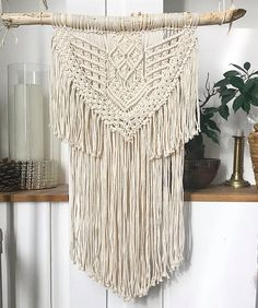 Macrame Wall Hanging - Tenture murale - suspension en macramé - décoration bohème
