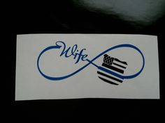 Items similar to Customized infinity wife police badge Thin Blue Line Decal badge, American flag police wife badge, yeti decal, yeti tumbler decal,sticker on Etsy Police Wife Tattoo, Police Officer Wife, Cop Wife, Police Wife Life, Thin Blue Line Decal, Blue Line Flag, Thin Blue Lines, Yeti Decals, Line Tattoos