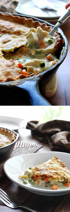 Skillet Chicken Pot Pie Cooking With Your Cast Iron Skillet Everything You Need To Know Cast Iron Skillet Cooking, Iron Skillet Recipes, Cast Iron Recipes, Skillet Dinners, Skillet Food, Easy Dinners, Skillet Pan, Dutch Oven Cooking, Dutch Oven Recipes