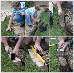 step by step instructions . Paver Fire Pit, Small Backyard Landscaping, Step By Step Instructions, Fun Projects, Curb Appeal, Stepping Stones, Grass, Concrete, Gardening