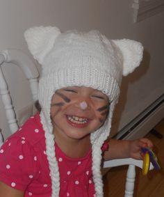 White Toddler Kitty Cat Hat by NantucketKnitter on Etsy. Super cute!