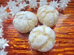 kokosovo citron.crinkles Crinkles, Dairy, Bread, Cheese, Cookies, Christmas, Food, Lemon, Yule