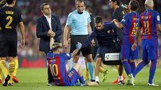 Messi se lesiona y Barcelona empata con el Atlético