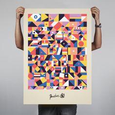 Design/illustrations by michal hazior, via Behance