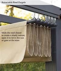 JUST HAVE AN OVERHANGING PIECE TO PULL BACI AND FORTH! DUUUUHH! retractable pergola roof diy - Bing Images