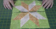 Using Half Square Triangles, You Can Make The Lovely Star Flower Block!