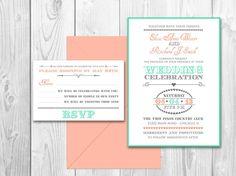 Wedding Invitations Shabby Chic Pastel Elegance  - Huston Suite (Invitation and response card) on Etsy, $35.00